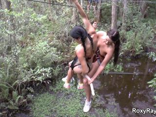 Roxy Raye-Naked Zip Lining Into My Lesbian Treehouse