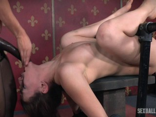 Mandy Muse Roped To a Table and Without mercy Romped From Both Sides!