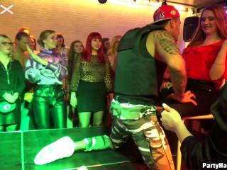 Crazy Gangbang Party At Club