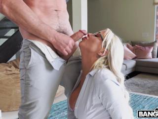 Busty Secretary Nina Ella Gets Creampied  HD 720p