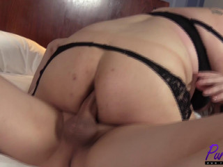 Becca Sheridan - Christian gets BBW TS cam model on his casting couch