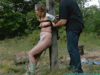 Penalizing Outdoor Restrain bondage for Rachel 5 part - BDSM,Humiliation,Torture HD 720p