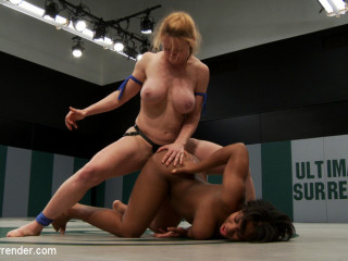US welcomes a new rookie with great potential. 18yr Yasmine is strong, has huge tits & some skill!