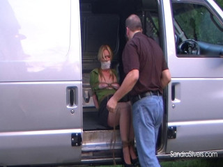 4 Topless Secretaries, Tied & Taken Away in the Van!