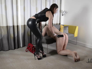 European deputy became a julie's slave - part 1: cumeating & whipping