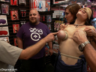 Hot Mummy With Big Udders Gets Disgraced and Bootie Boinked in Pornography Store