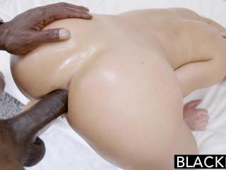 Pretty Towheaded Woman Screwed By A Huge Ebony Dick
