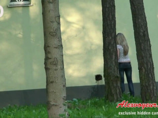 Urinating in the park
