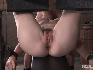Riley Nixon brutally pounded, leaving her a salivating dripping, gagging mess!