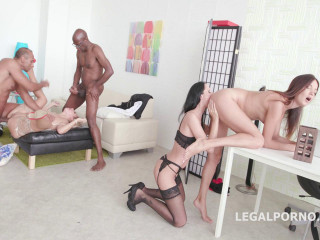 Gangbang perversions with fisting
