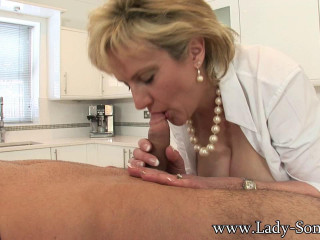 Lady Sonia: Playtime With A Huge Young Stud