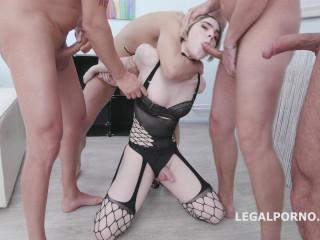 Ella gets Gagged and Manhandled by four guys