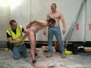 Toby wants to deny the sub any pleasure during the coming torment so attaches a cock