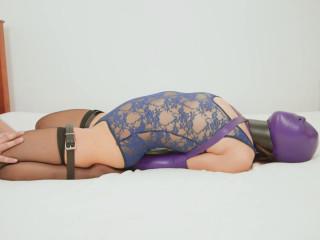 Lace Gimp costume And Purple Armbinder (2014)
