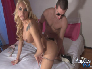 Angeles Cid Fucked Rigid by the Transsexual Banger (2014)