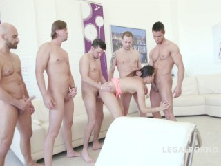 May Thai 5on1 Gangbang & Facialized