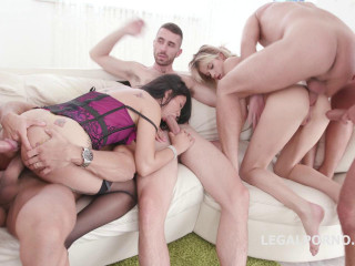 Brutal Monster Gangbang For Ria Sunn & Jureka Del Mar
