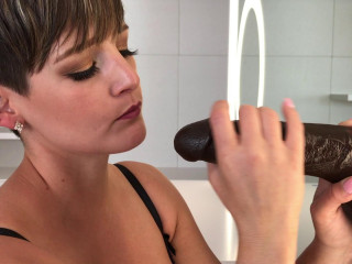 Big Black Cock Unloads In My Mouth