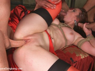Queen pussy stuffed chock full of cock and cum!