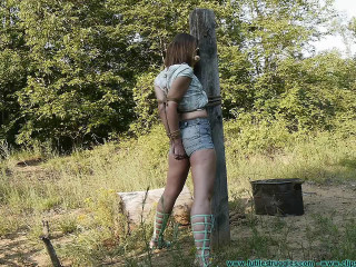Penalizing Outdoor Bondage for Rachel 1 part - BDSM,Humiliation,Torture HD 720p