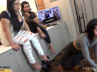 Punishing Victim For Not Having Cleaned Soles and Boots