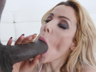 Tattooed Alice Judge enjoys audition with Big black cock