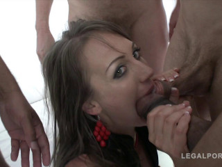 Tough rectal gang-fuck with Double penetration for Angel Karyna