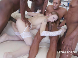 Ebony Busters, 5 on 1 Belle Claire multiracial Bal Deed Dp Dap Gapes (2016)