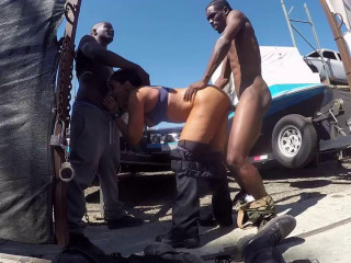 Sheena Ryder Is A Dirty Cop That Gets Fucked By Three Bbc