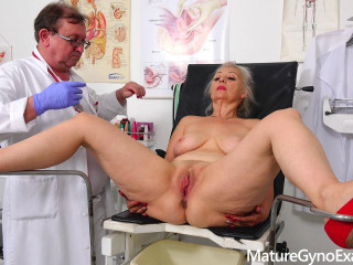 Dirty vaginal check up of sexy busty GILF Veronique FullHD 1080p