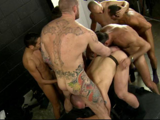 Raw Gangbang With Sexy Twelve Fuckers