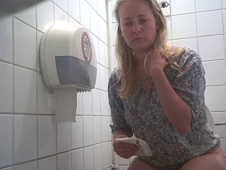 Hidden camera in the student toilet Part 11 (2018)