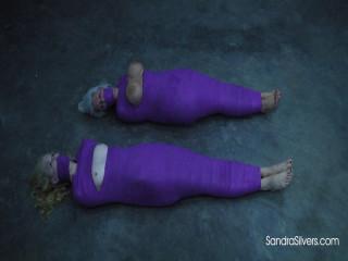Sandra Silvers Ariel Anderssen Mummified exposed Bare Feet Breasts (2018)