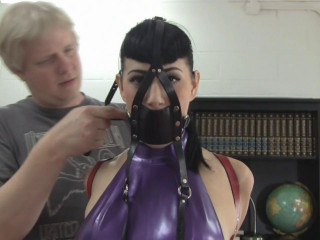 Busty Brunette Secretary Trained in Latex and Leather