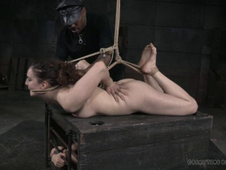 Endza rides the brutal wooden nag