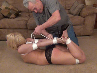 Naughty Emi In Her First Usa Hogtie