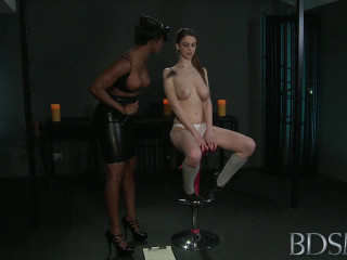 Skinny Submissive Tied And Dominated By Ebony Mistress