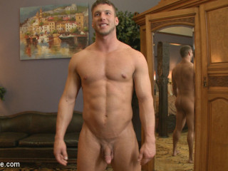 Gay-for-pay Jock Pleads to Cum with a Fake penis in his Caboose