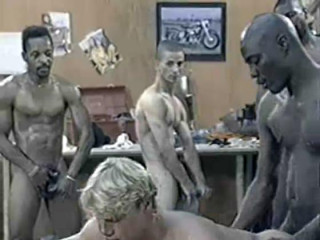 Interracial GangBang With Black Dicks