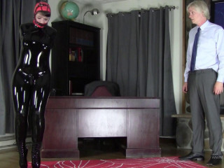 Cock-squeezing bondage, domination and torture for sexy slave model