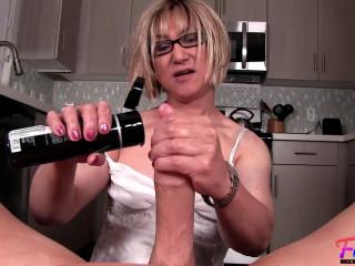 Mature CrossdresserSucks A Cock In Her Kitchen