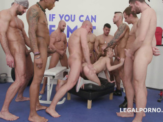 10on1 Gangbang with Kira Thorn