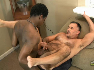 BlacksOnDaddies - Nasty Fuck For Daddy Bear Giovanni Rossi, Roman