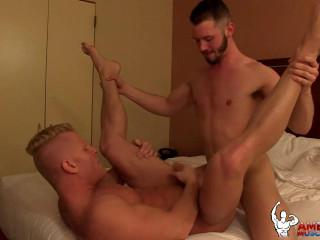American Muscle Hunks - Johnny V & Asher Devin