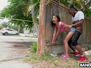 Maya Bijou Gets Fucked in Public