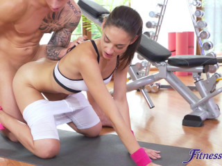 Miky Love: Tight Teen In Big Cock Sexercise
