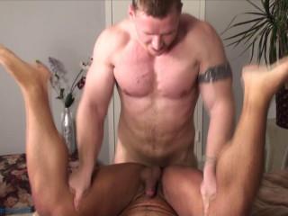 Rock Logan nails Vince Ferelli's tight crevice (720p)