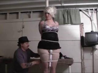 Brendasbound - Hannah's Pole Bound Orgasm
