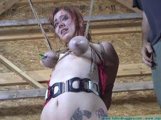Barnyard Restrain bondage for Riley Her Ordeal Resumes 3part - BDSM, Humiliation, Torment HD 720p