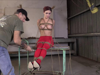 Brendas Bondage - Hogtied Hung And made To Cummmmm